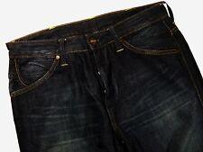 S185 WRANGLER denim scuro pants pantaloni taglia 30/30, molto bello COND!