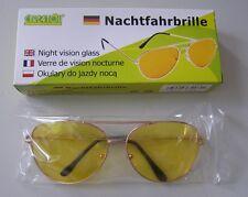 Nachtfahrbrille Nachtsichtbrille Kontrastbrille Nachtbrille BLENDSCHUTZ Brille