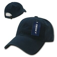 Navy Blue Solid Blank Washed Cotton Polo Style Low Crown Baseball Ball Cap Hat