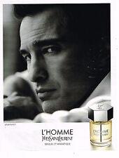 PUBLICITE ADVERTISING 045  2014  YVES SAINT LAURENT O. MARTINEZ parfum L'HOMME