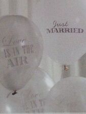 Just Married / Love Is In The Air Chic Boutique  silver/white Balloons