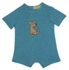 Gardening Bear Short Sleeves Romper (Aqua Dog Collection) Size 9 months