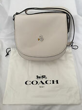 BNWT Disney Coach limited edition white Mickey bigger saddle bag, sold out
