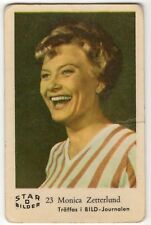 1960s Swedish Film Star Card Bilder D #23 Singer and Actress Monica Zetterlund