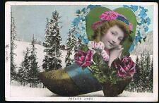 Vintage 1908 Joyeux Noel Carte Postale