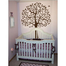Large 6ft Tree Wall Decal Deco Art Sticker Mural - DARK BROWN