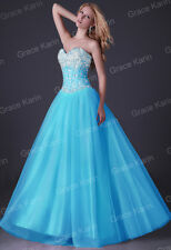 Quinceanera Long Bridesmaid Formal Gown Ball Party Cocktail Evening Prom Dress