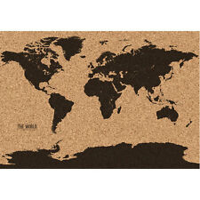 World Map Cork Board Retro Wall Art Kitchen Office Notes Traveling Holiday Gift