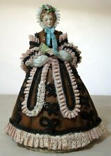 Vintage Dresden Lace Sitzendorf Godey's Fashion May 1863 Porcelain Figurine