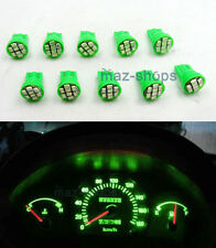 10X Green Instrument Panel Cluster PC194 T10 Led Light Bulb Dashboard for Toyota