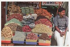 (82110) Postcard India Spices Seller - un-posted