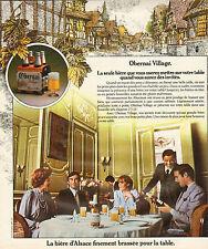 Publicité Advertising 1974  Bière Obernai Village d'Alsace finement brassée