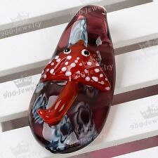 Clear Murano Lampwork Glass Fish Bead Charm Pendant For Necklace Jewelry Gift
