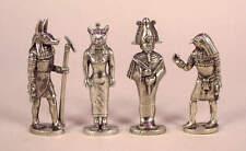Quattro DIO EGIZIANO amuleti in peltro BELLE-ANUBIS, liberiane, HORUS, Osiris