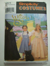 Wizard of Oz Wicked witch Dorothy Glinda costume pattern Girl's  6  7801