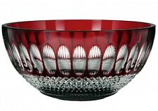 """Waterford COLLEEN Ruby Red Cased Crystal Bowl 9"""" 60th Anniversary #160988 New"""