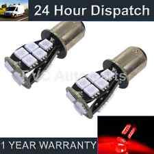 2X 380 BAY15D 1157 XENON RED 18 SMD LED STOP TAIL BRAKE LIGHT BULBS ST201101