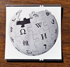 Wikipedia Globe stickers vinyl die struck 2-inch