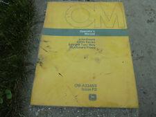 Vintage John Deere 4600 Series Integral Moldboard Plows Operator's Manual