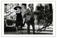 AUDREY HEPBURN + GEORGE PEPPARD BREAKFAST AT TIFFANY'S SIGNED PHOTO PRINT