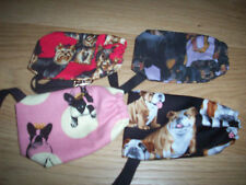 Dog Poo bags holder handcrafted yorkies, frenchies dogs with lobster clips NEW