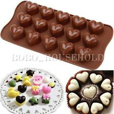 Love Heart Muffin Mould Candy Cookie Chocolate Ice Mold Jelly Soap Bakeware Tool