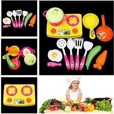 Baby Kid Kitchen House Play Toy Utensil Pot Cooking Food Pan Dishes Cookware LD