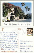 1992 STREET VIEW KOS GREECE COLOUR POSTCARD