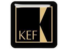 "KEF Gold 1""x1"" Chrome Domed Case Badge / Sticker Logo"