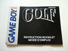NINTENDO GAME BOY / Notice Instruction / Golf [ DMG-GO-FAH-1 ]