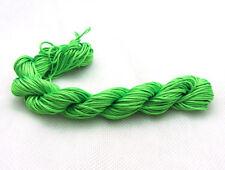 Green 28M/roll 1mm Chinese Knotting Nylon Thread Cord  Beading Bracelet Rope