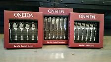 *NEW* Oneida Set of 6 Cocktail Spoons, Spreaders, and Forks Nocha