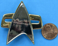 "VOYAGER INSIGNIA PIN vtg Star Trek DEEP SPACE NINE 2""! Magnet Clasp"