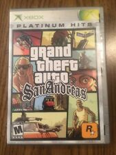 Grand Theft Auto: San Andreas Platinum Hits (Xbox, 2005) Complete w/ map!