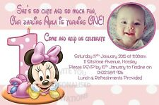 Invitation Invite Girls Birthday Party Minnie Mouse Baby