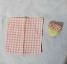Mattel Barbie Happy Family Baby Original outfit & blanket Pink plaid with yellow