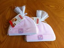 4 Fisher Price Newborn / Infant Baby Girl Hats Baby Shower Gift * 2 Sets of 2