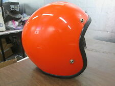 Vintage Retro 1977 Large Orange 5 Snap Open Face Motorcycle MX Motocross Helmet