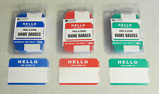 "300 ""HELLO MY NAME IS"" NAME TAGS LABELS BADGES STICKERS PEEL STICK ADHESIVE"