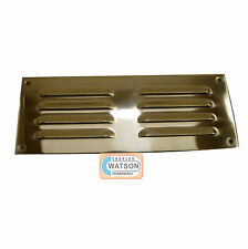 CARLISLE Brass HL4 22.9cmx7.6cmPolished Laiton Grille De Ventilation Housse Air