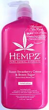 Hempz Sweet Strawberry Creme & Brown Sugar Herbal Moisturizer After Tan Lotion