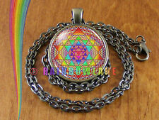Sacred Geometry Sri Yantra Mandala Necklace Pendant Jewelry Charm Gift