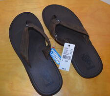 VANS MENS NEXPA BROWN LEATHER SANDALS THONG SIZE 11 NWT NEW FLIP FLOPS