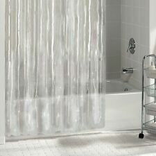 NEW SOLID WATER REPELLANT BATHROOM SHOWER CURTAIN LINE CLEAR ALL COLORS