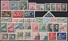CZECHOSLOVAKIA 1946-1947, COMPLETE YEAR SET STAMPS + SHEETS, **MNH**