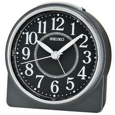 Seiko QHE137K Lumibrite Sweep Decond Hand Beep Alarm Clock with Snooze Black