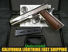3D CHROME METAL ITALY MOVIE PROP Pistol Replica 1911 Hand Gun COLT SUPERNATUAL