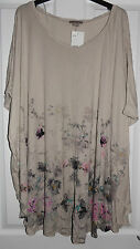 H&M FLORAL T-SHIRT TOP / TUNIC DRESS XL EXTRA LARGE BNWT UK 22