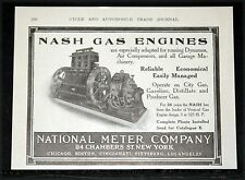 1910 OLD MAGAZINE PRINT AD, NASH VERTICAL STATIONARY GAS ENGINES, COMPRESSORS!