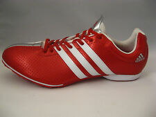 Mens Track Shoes 14 adidas adizero MD G00162 White Red Lightweight Spikes NEW